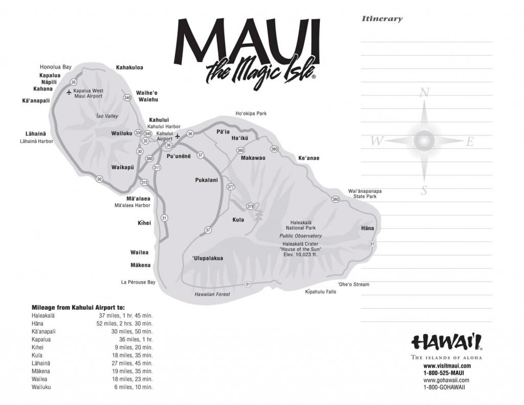 Maui Maps Printable | Scope Of Work Template Mileage | Hawaii | Maui - Printable Map Of Maui