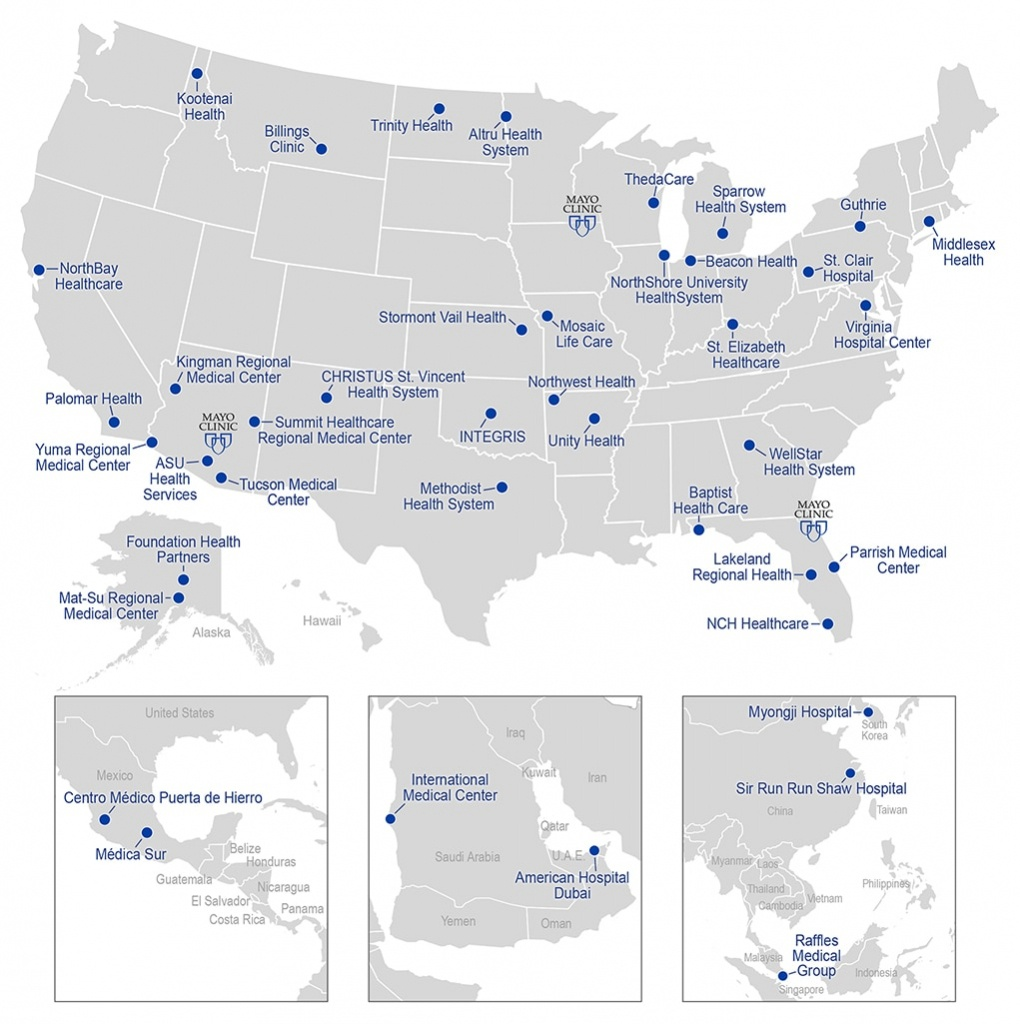 Mayo Clinic Care Network Map - About Us - Mayo Clinic - Mayo Clinic Jacksonville Florida Map