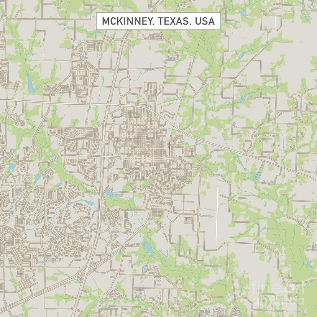 Mckinney Texas Us City Street Map Digital Artfrank Ramspott - Street Map Of Mckinney Texas