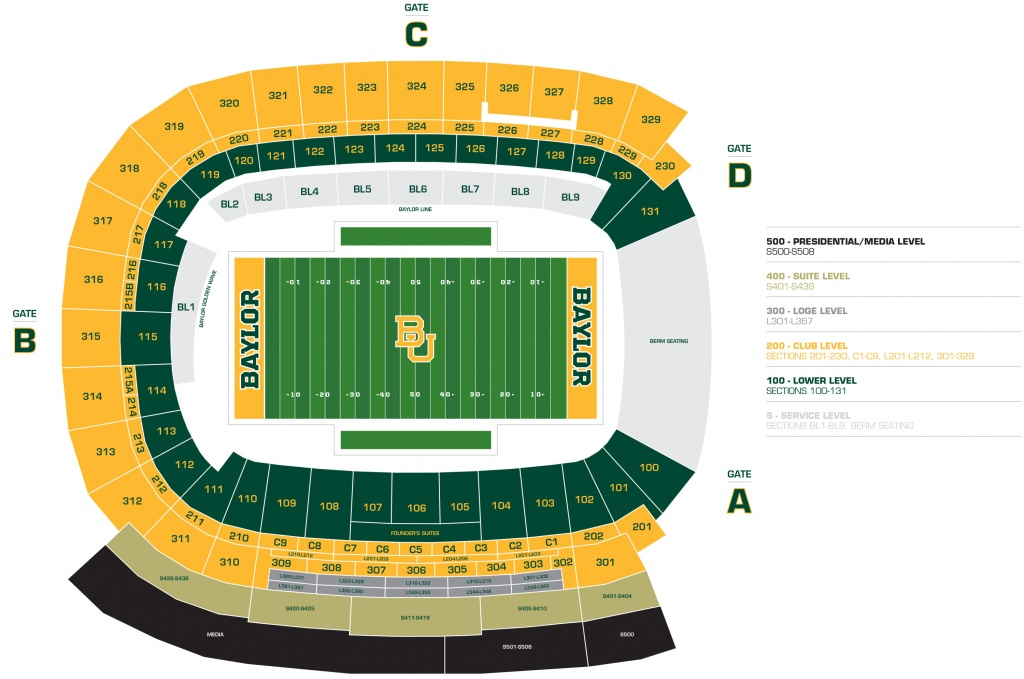 Mclane Stadium - Baylor University Athletics - University Of Texas Football Stadium Map