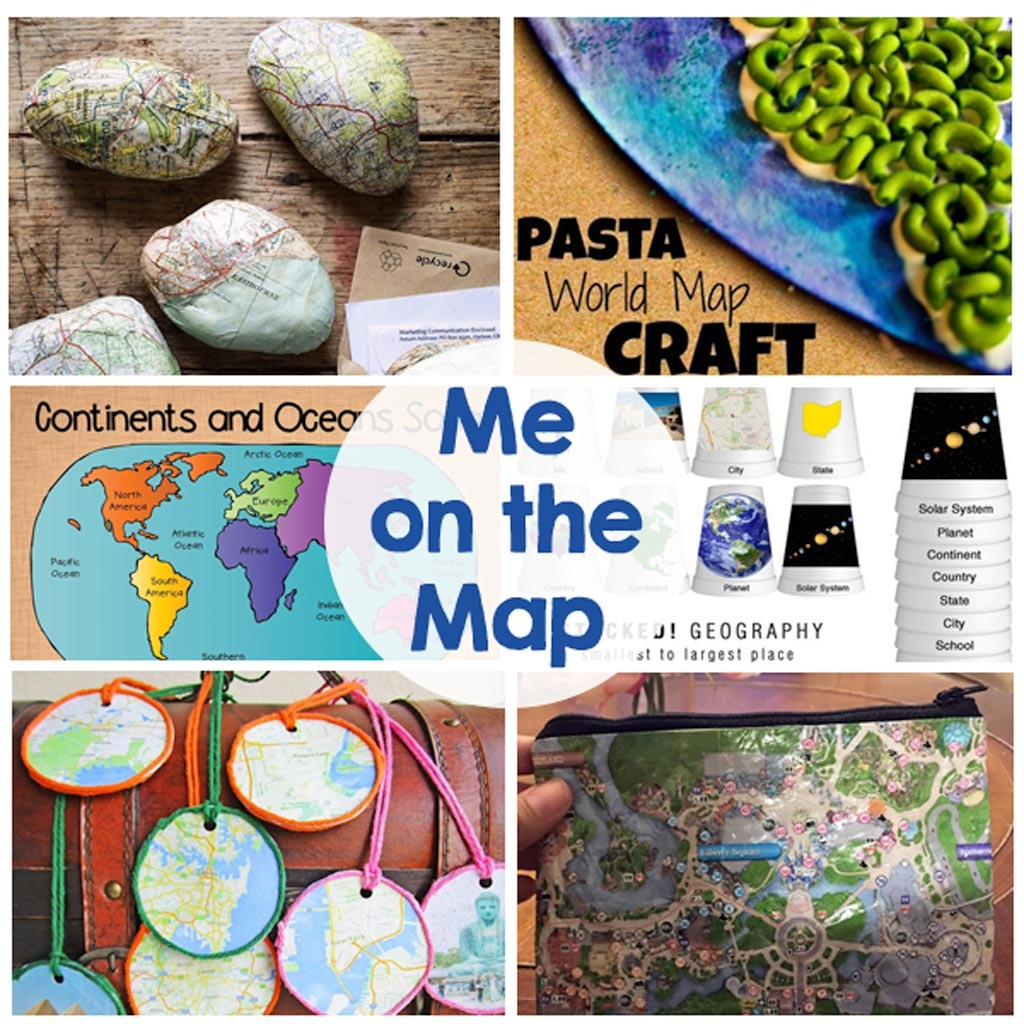 Me On The Map - The Crafting Chicks - Me On The Map Printables