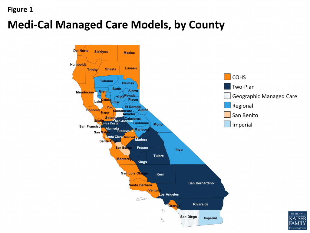 Medi-Cal Managed Care: An Overview And Key Issues – Issue Brief - Kaiser Permanente Northern California Service Area Map