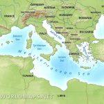 Mediterranean Map   Mediterranean Map Printable