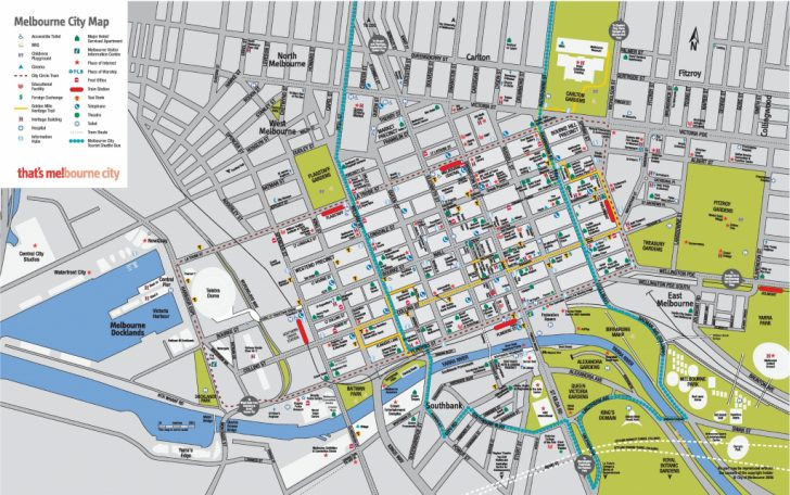 Brisbane City Map Printable
