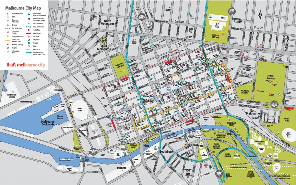 Melbourne Cbd Map - Brisbane City Map Printable