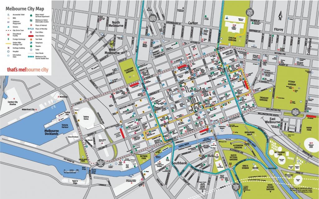 Melbourne Cbd Map - Printable Map Of Melbourne