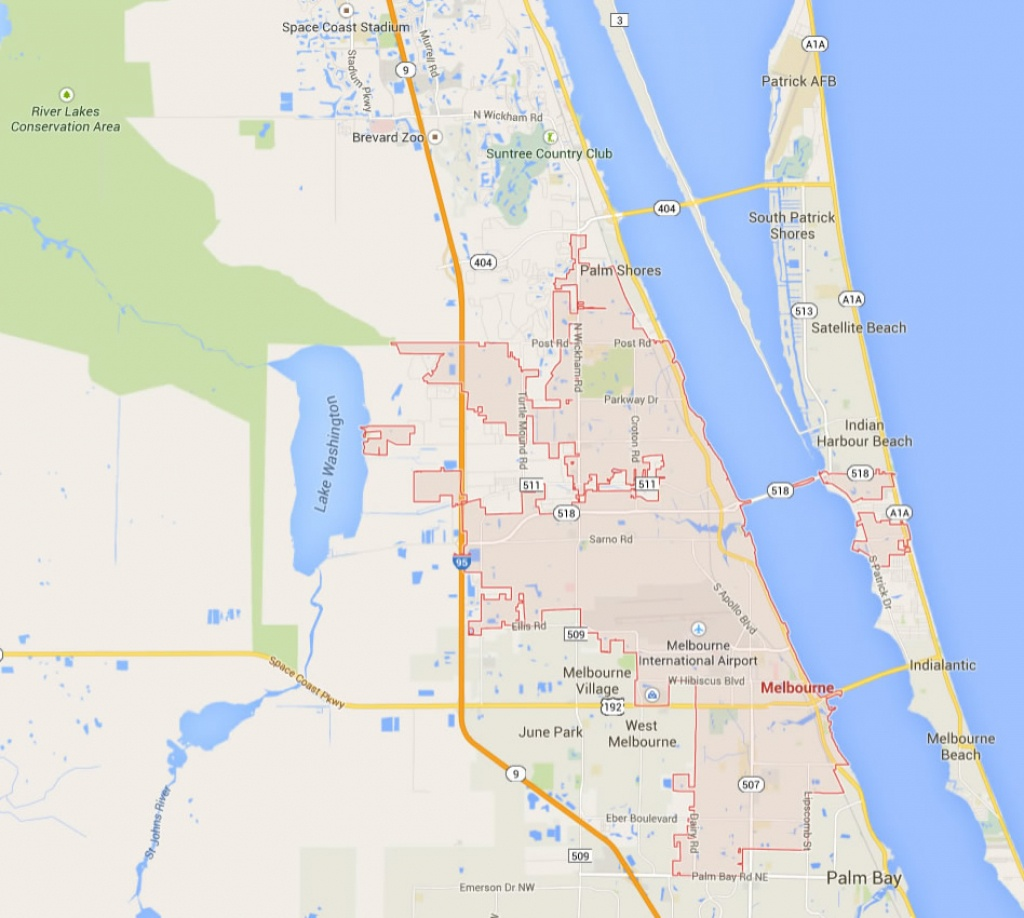 melbourne florida map satellite beach florida map Bcpao   Maps & Data   Satellite Beach Florida Map