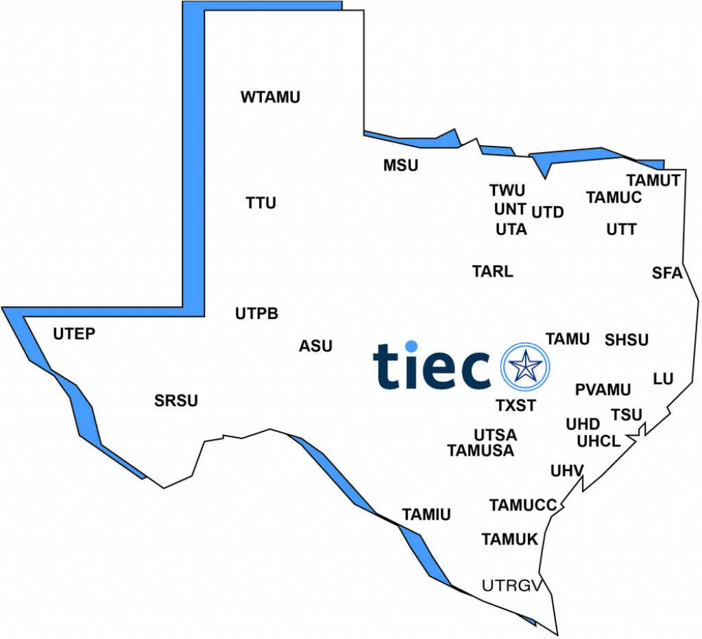 Member Universities — Texas International Education Consortium - Alpine Texas Map