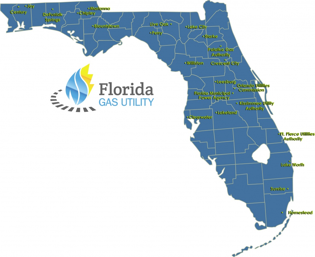 Members – Florida Gas Utility - Florida City Gas Service Area Map