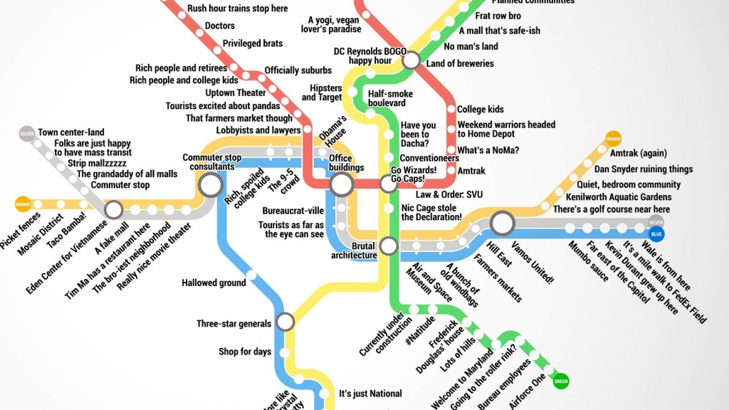 Metro Map Of Washington Dc | Woestenhoeve - Printable Dc Metro Map
