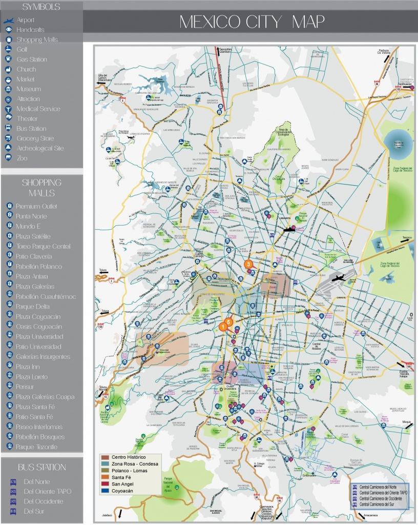Mexico City Maps | Mexico | Maps Of City Of Mexico - Printable Map Of Mexico City