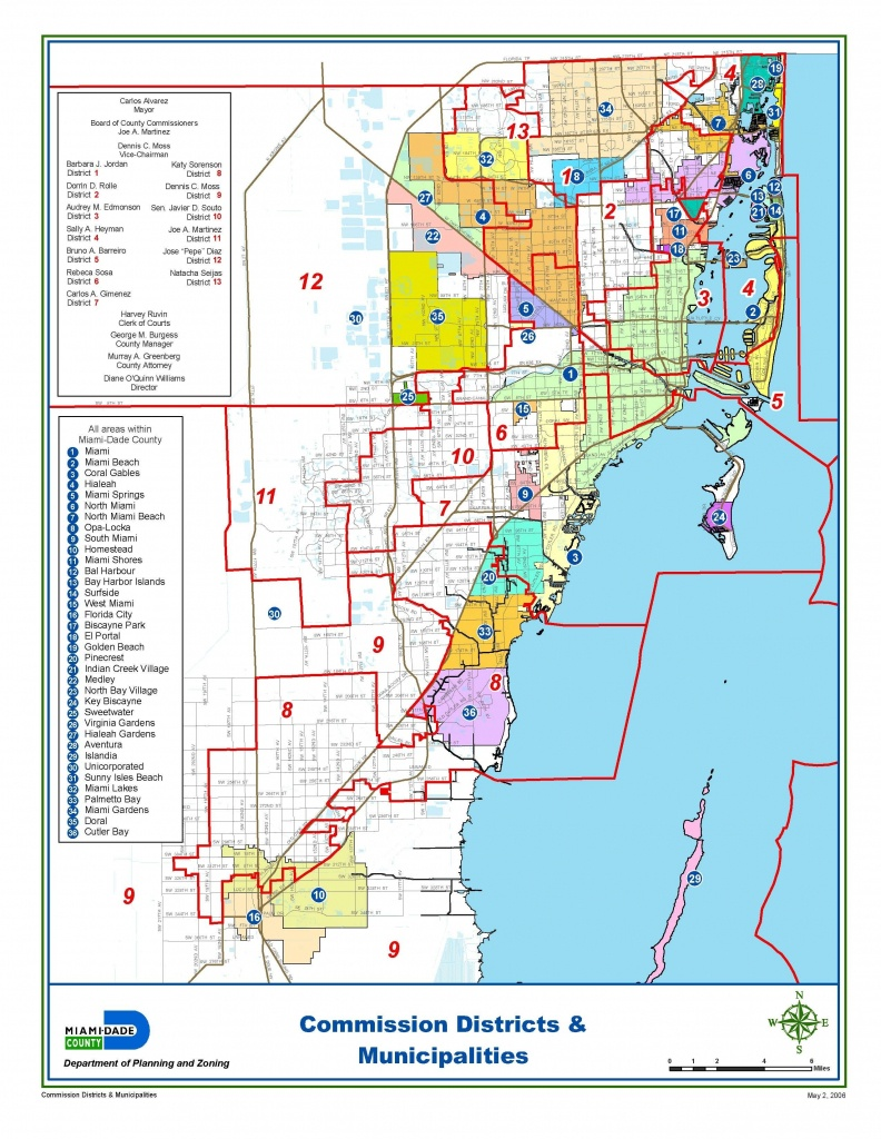 Miami-Dade Municipalities Map   Miami Real Estate Maps And Graphics - Map Of Dade County Florida