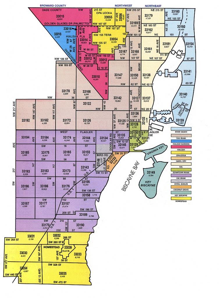 Miami-Dade Zip Code Map - Florida Zip Code Map