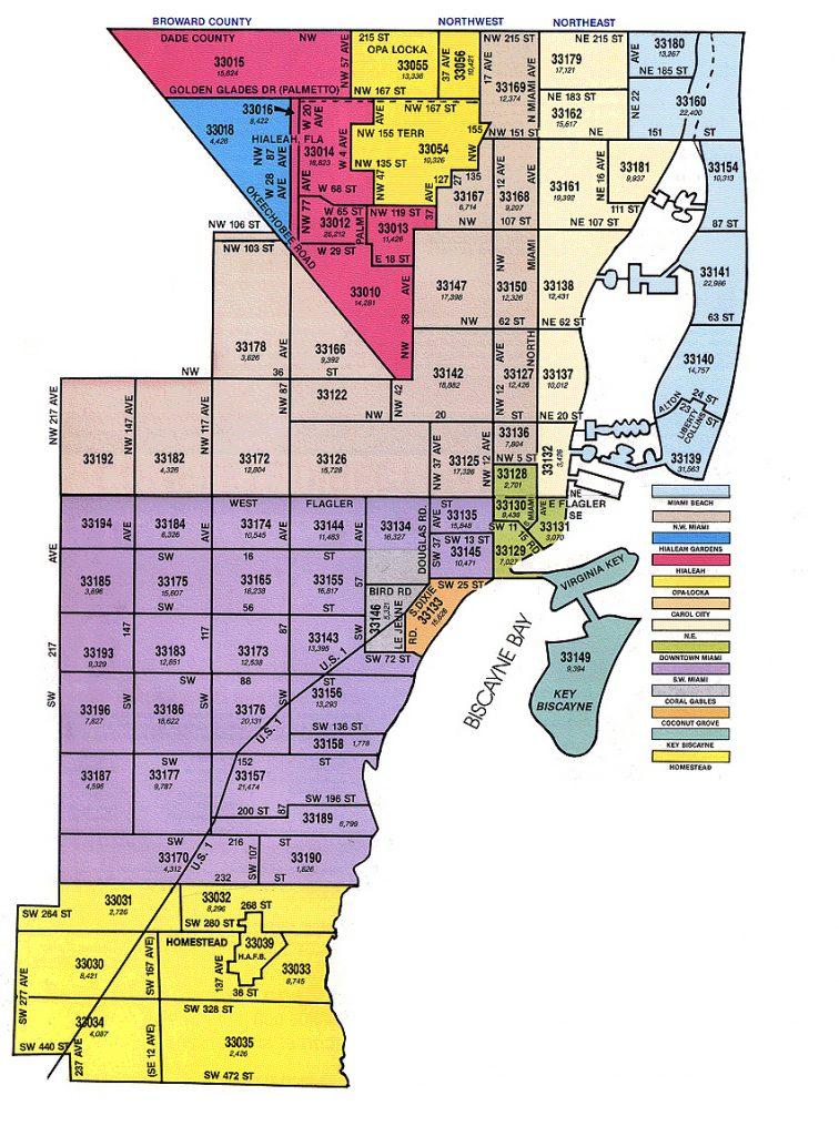 miami-dade zip code map - zip code map of palm beach