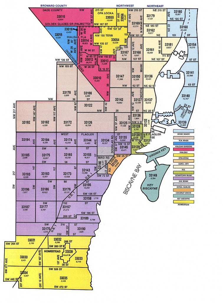 Miami-Dade Zip Code Map - Zip Code Map Of Palm Beach County Florida