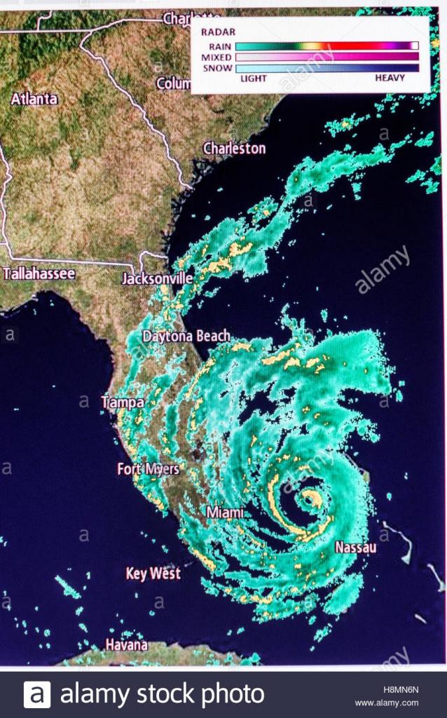 Miami Florida Beach Computer Monitor Intellicast Weather Radar - Florida Radar Map