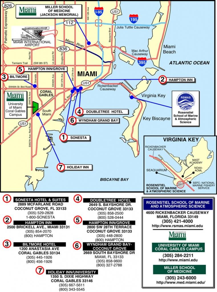 Miami Hotel Map - Miami Florida • Mappery - Map Of Miami Beach Florida Hotels