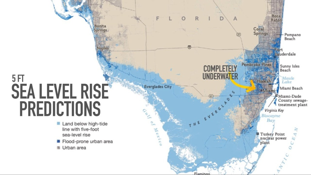 Miami May Be Underwater2100 - Youtube - Florida Global Warming Flood Map