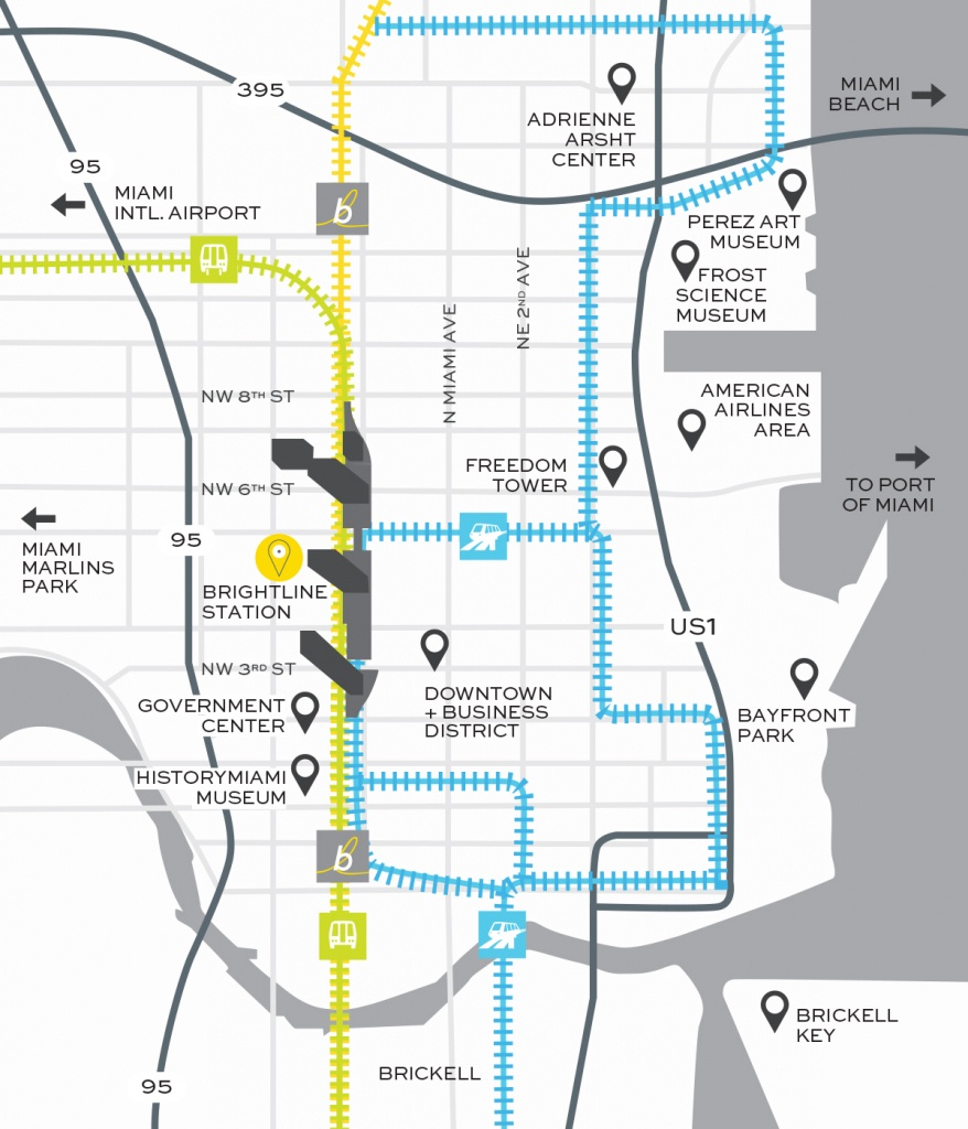 Miami Train Station | Brightline Transit - Amtrak Station Map Florida