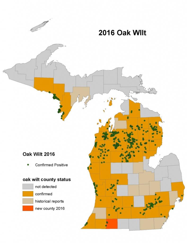 Michigan Dnr Offers Tips To Prevent Spread Of Oak Wilt - Oak Wilt Texas Map