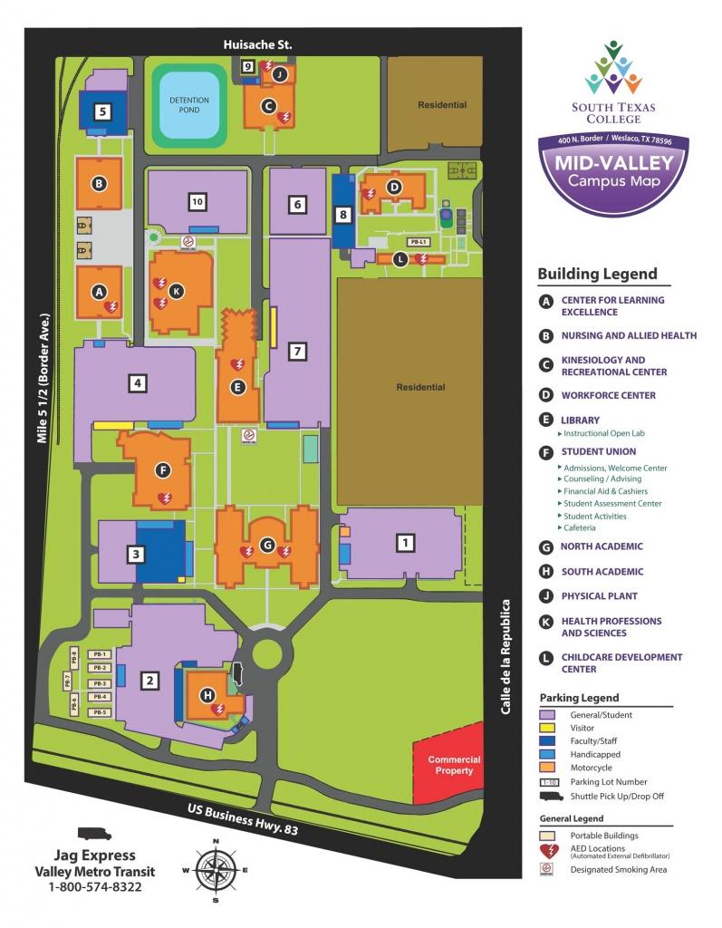 Mid-Valley Campus - Weslaco | South Texas College - South Texas College Mid Valley Campus Map