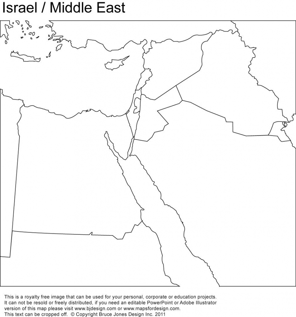 Middle East, Israel Printable Maps No Text   Girl Scout - World - Printable Blank Map Of Middle East
