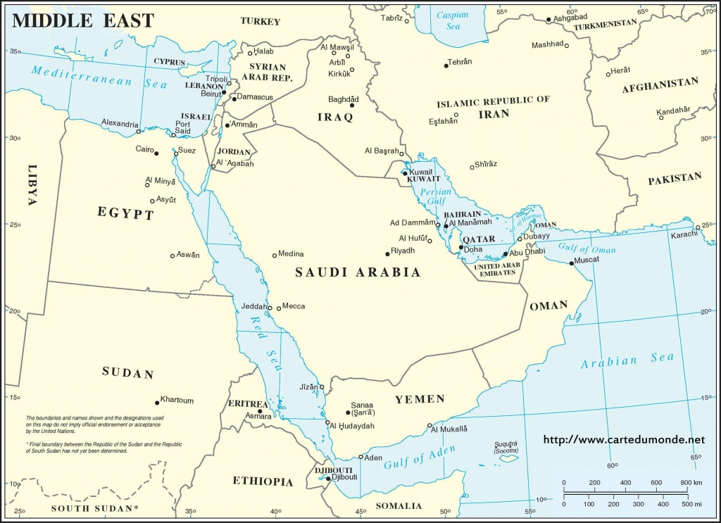 Middle East Region Map, World Map - Printable Map Of Middle East