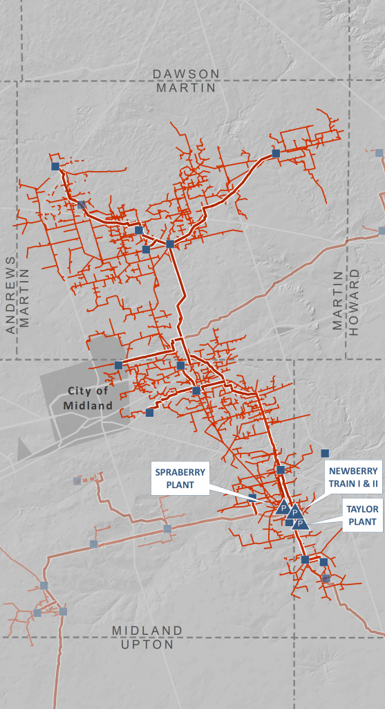 Midland Basin Processing Complex | Navitas Midstream - Oneok Pipeline Map Texas