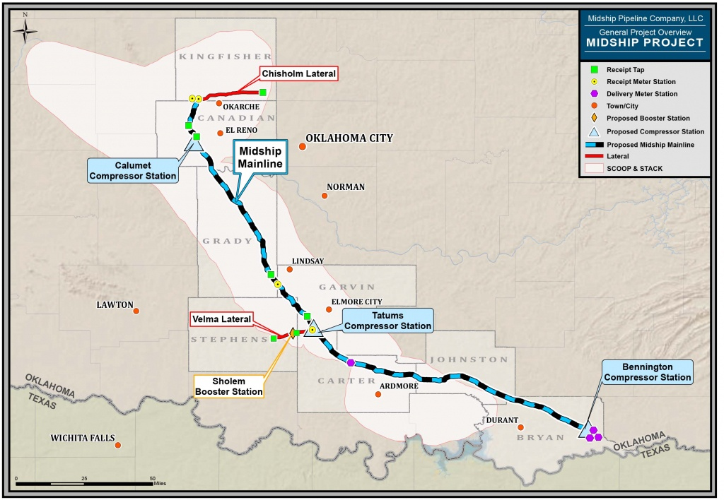 Midship Project Gets Ferc Approval - Compressortech² - Oneok Pipeline Map Texas