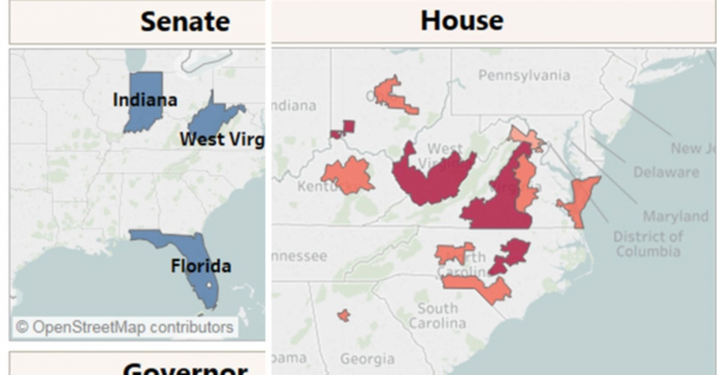 Midterm News: Early Election Results To Watch In The Battle For Congress - Florida Congressional Districts Map 2018