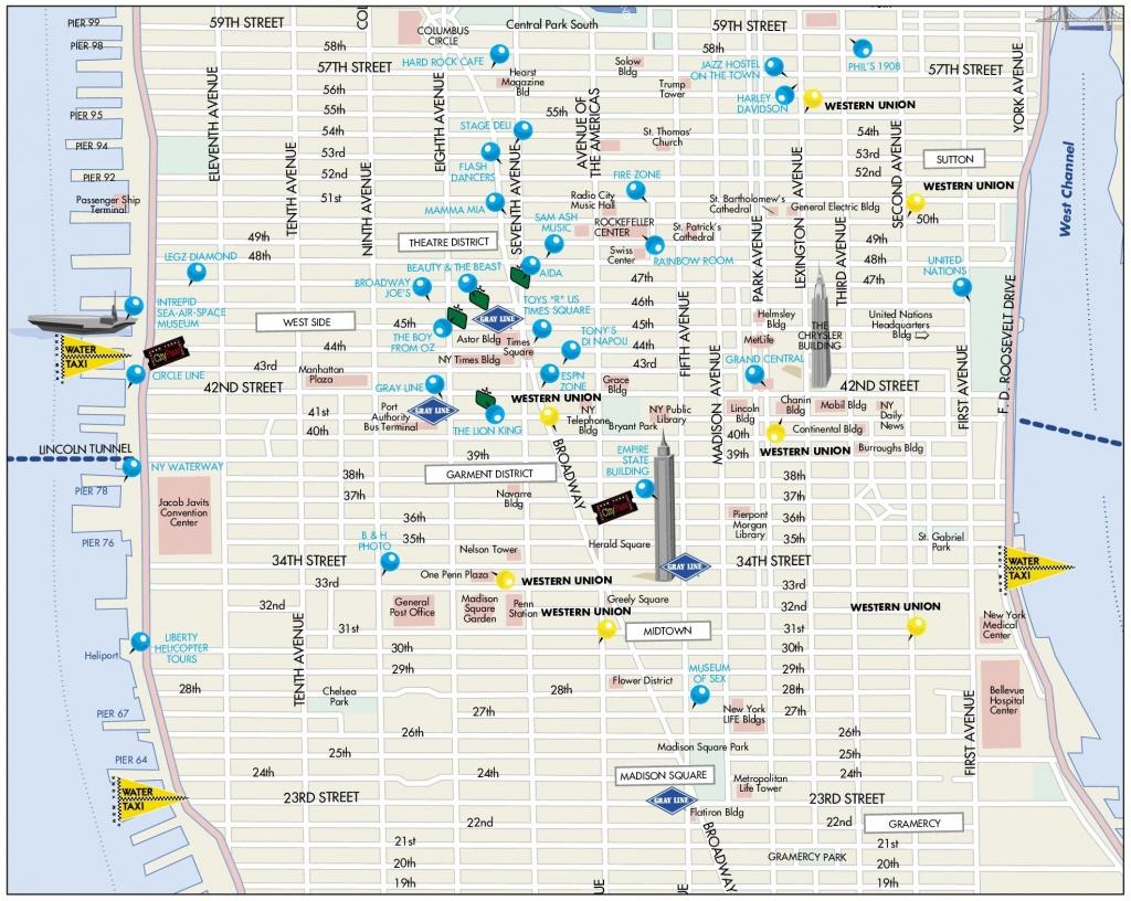 Midtown Manhattan Map - Map Of Midtown Manhattan Printable
