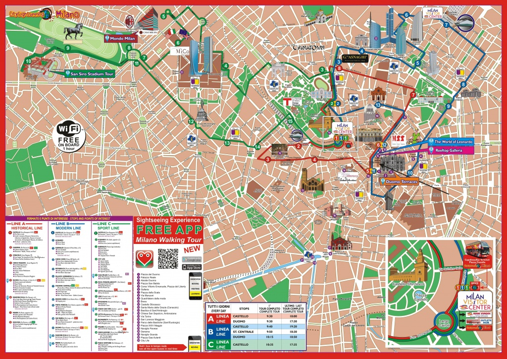 Milan Attractions Map Pdf - Free Printable Tourist Map Milan, Waking - Printable Map Of Milan