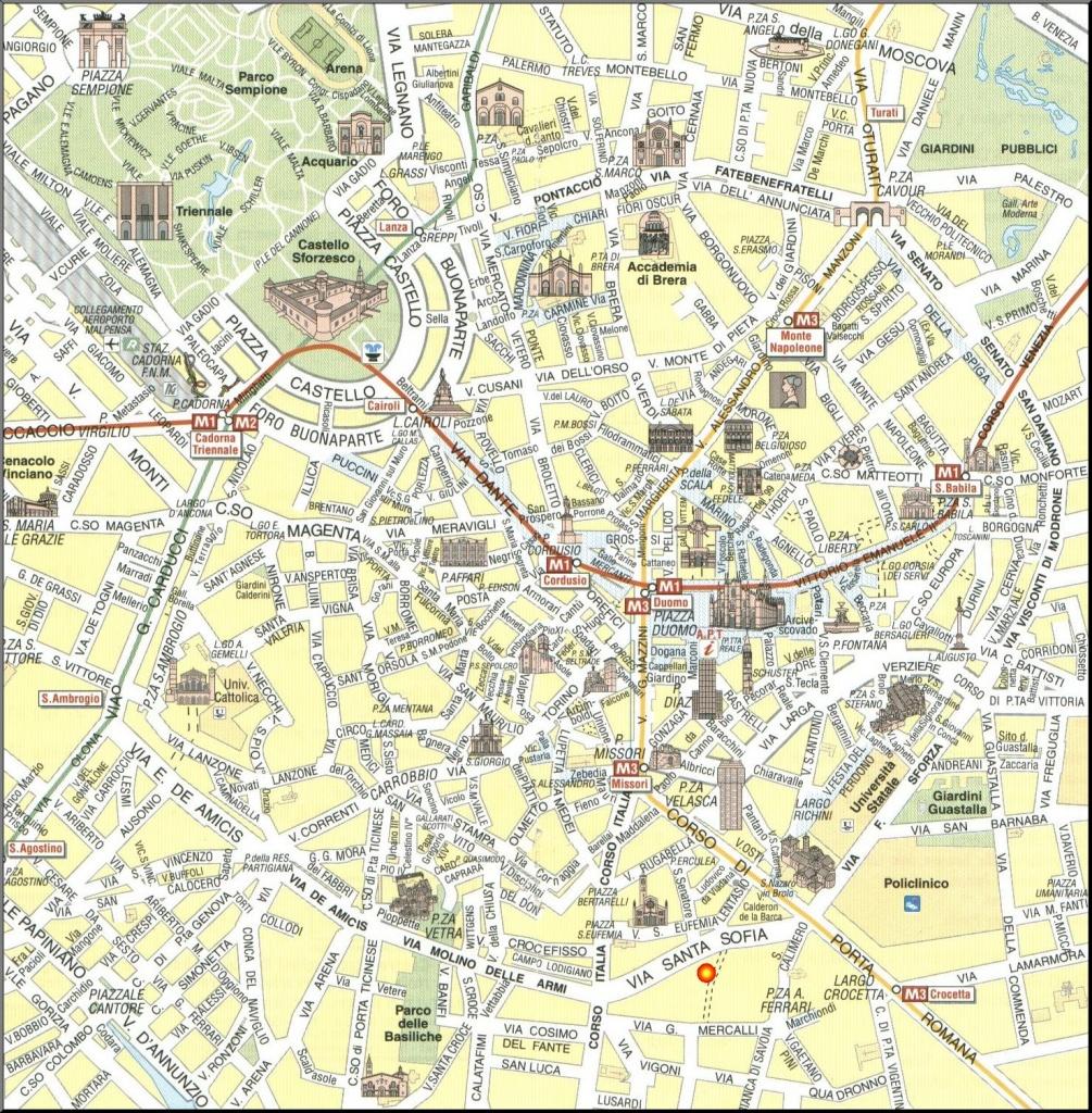 Milan Map - Detailed City And Metro Maps Of Milan For Download - Printable Map Of Milan City Centre