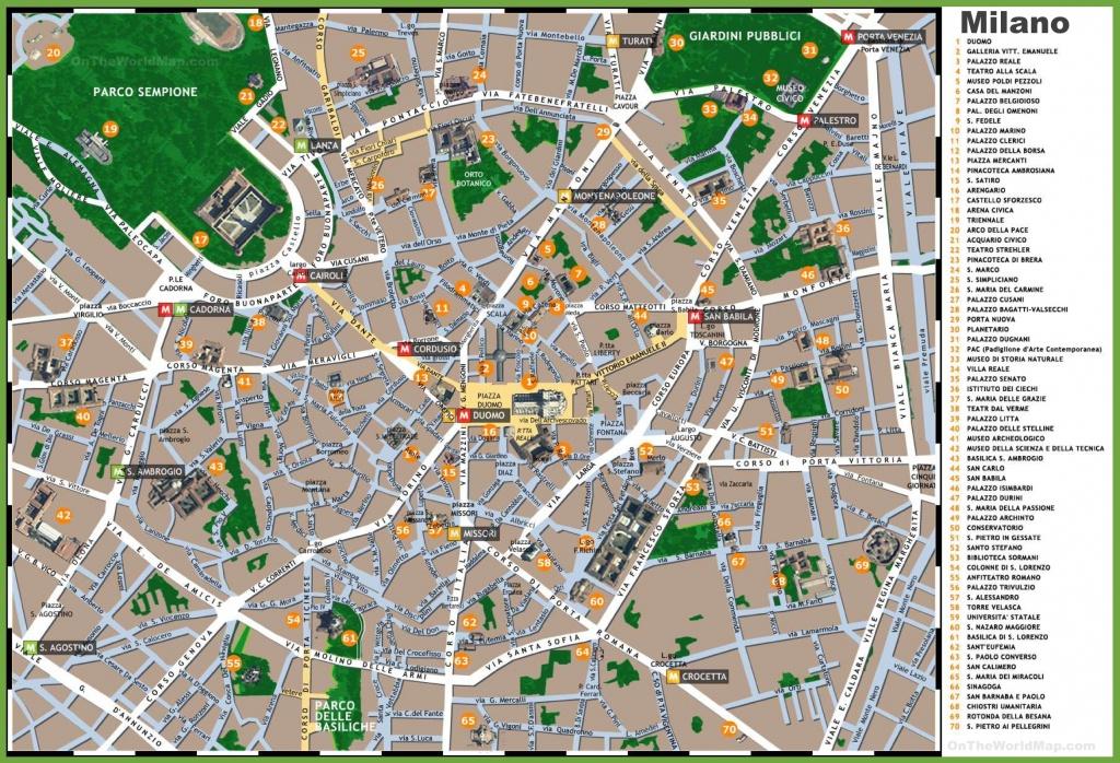 Milan Maps | Italy | Maps Of Milan (Milano) - Printable Map Of Milan City Centre