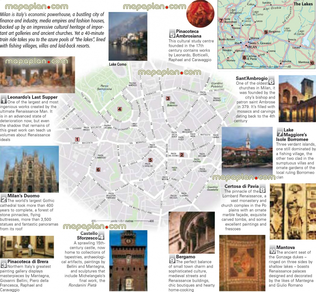 Milan Maps - Top Tourist Attractions - Free, Printable City Street - Printable Map Of Milan City Centre