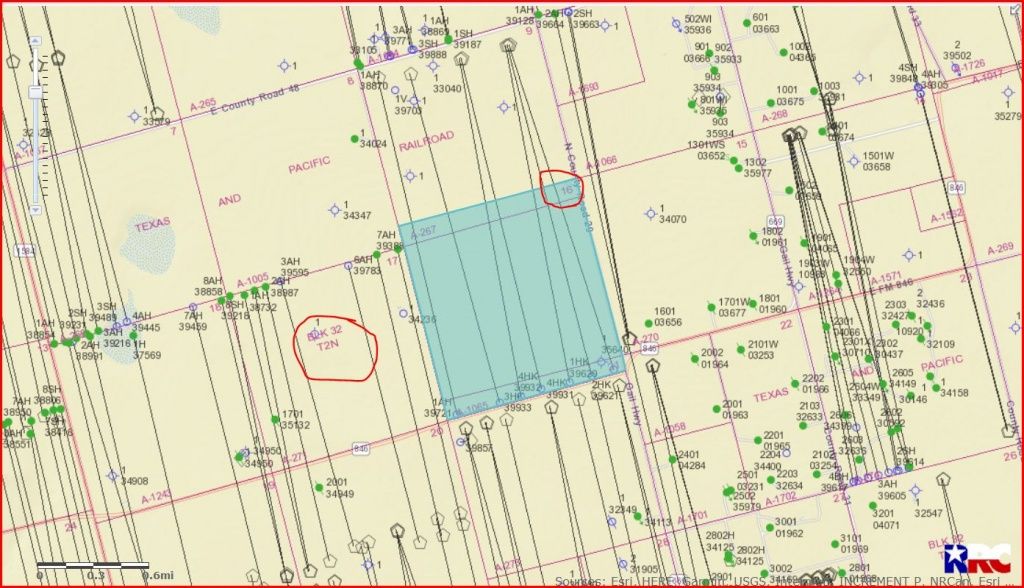 Mineral Rights Sec 16 Blk 32 T-2-N Howard County - Howard County, Tx - Howard County Texas Section Map