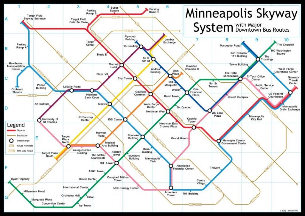 Minneapolis Skyway Systemmike77777 On Deviantart - Minneapolis Skyway Map Printable