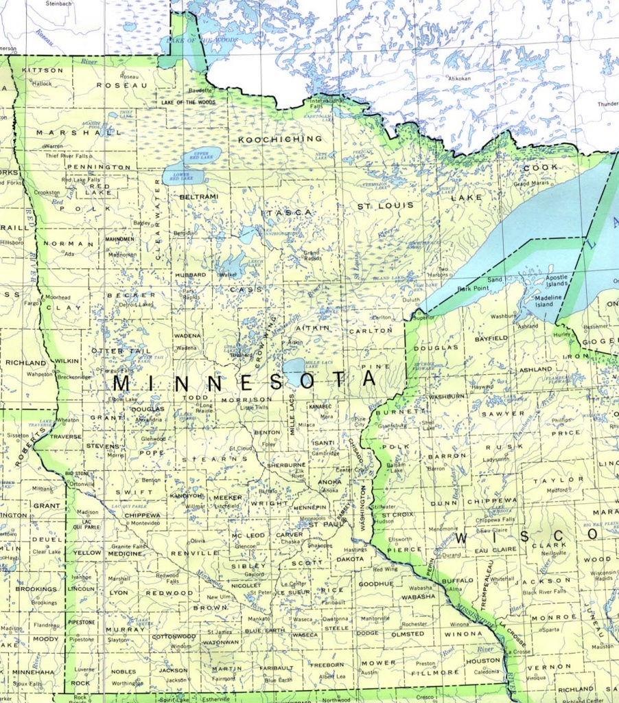Minnesota Maps - Perry-Castañeda Map Collection - Ut Library Online - Printable Map Of Minnesota