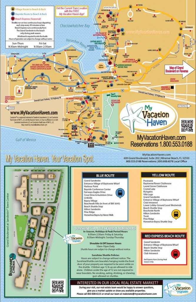 Miramar Beach Florida Sunshine Shuttle | My Vacation Haven - Sandestin Florida Map