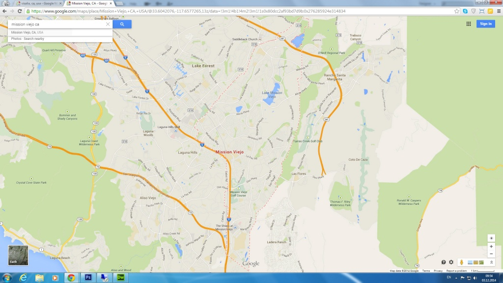 Mission Viejo, California Map - Mission Viejo California Map
