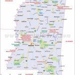 Mississippi Map Showing The Major Travel Attractions Including   Printable Map Of Ms