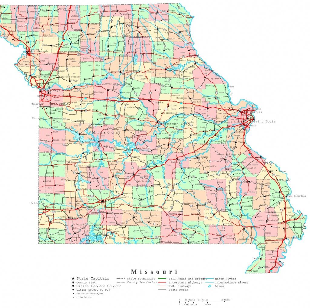 Missouri Printable Map - Printable Map Of Missouri