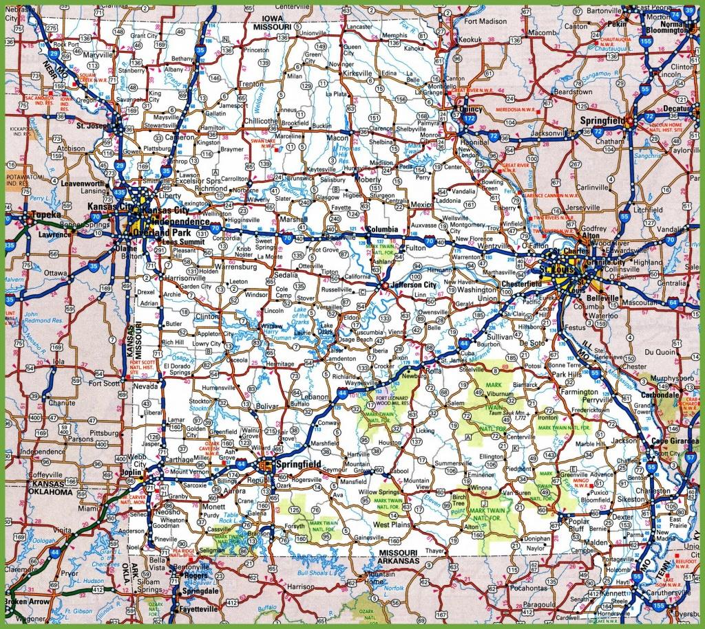 Missouri Road Map - Printable Map Of Missouri