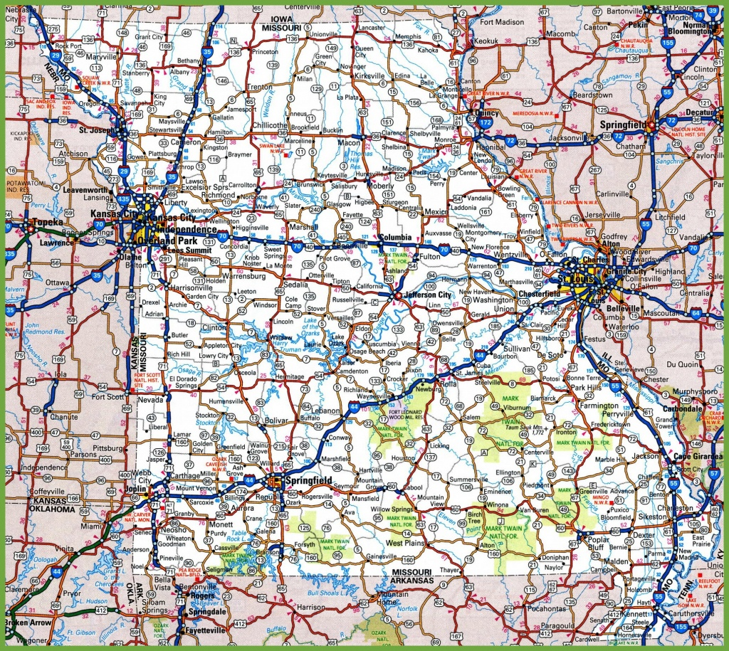 Missouri Road Map - Printable State Road Maps