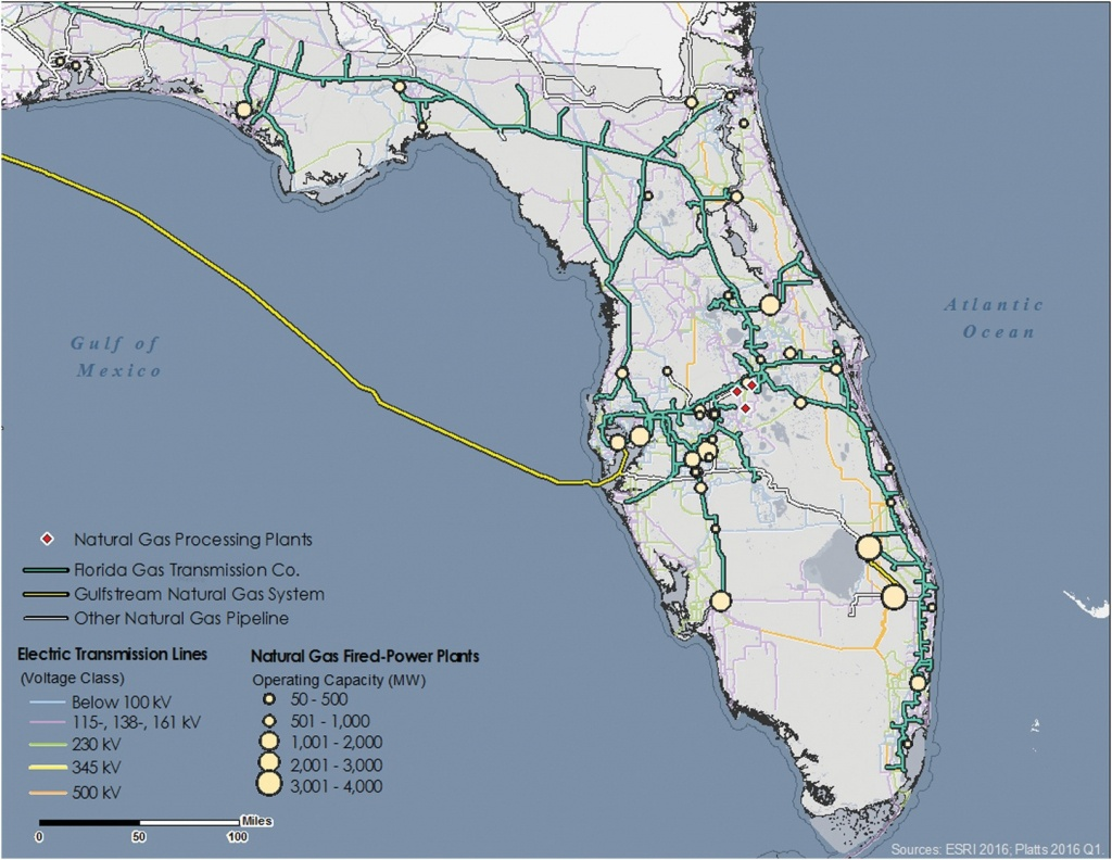 Modeling Electric Power And Natural Gas System Interdependencies - Gas Availability Map Florida