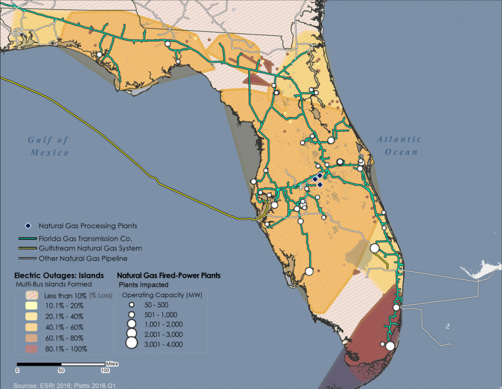 Modeling Electric Power And Natural Gas Systems Interdependencies - Florida Natural Gas Map