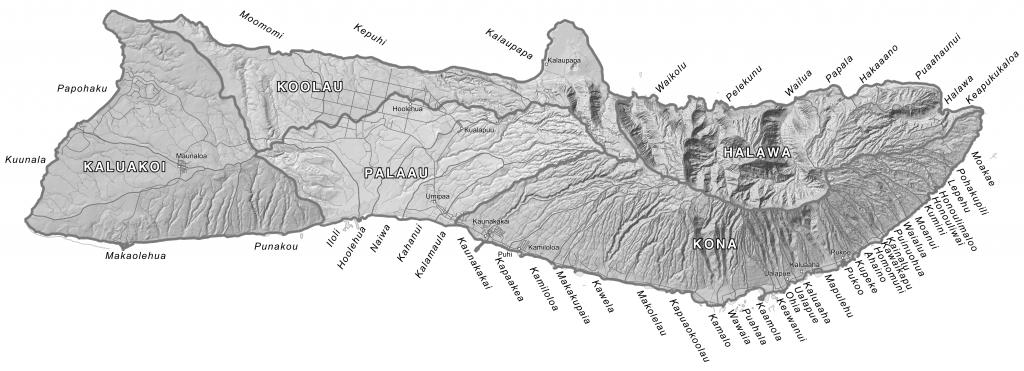 Moku Maps | Aha Moku - Molokai Map Printable