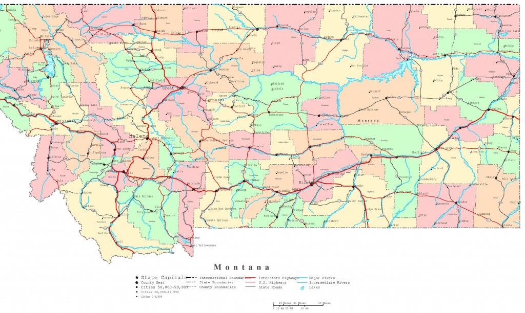 Montana Printable Map - National Atlas Printable Maps