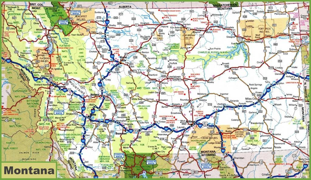 Montana Road Map - Printable Road Map Of Wyoming