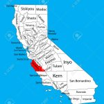 Monterey County (California, United States Of America) Vector   Where Is Monterey California On The Map